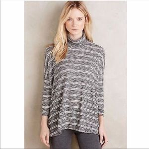 Anthropologie Postmark Striped Turtleneck
